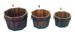 Genuine Oak Barrel Planters Flower Pots Garden Box Planter pictures & photos
