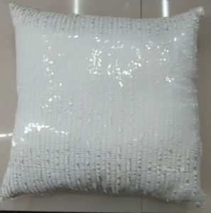 Sequin Embroidery Cushion Fashion Decorative Pillow (XPL-11) pictures & photos