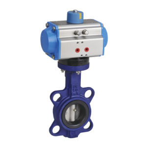 Pneumatic Wafer Butterfly Valve for Water, Steam pictures & photos
