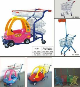 Yd-T8 High Quality Kids Trolley with Car and Different Colour pictures & photos
