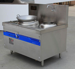 Large Power Restaurant Wok Induction Wok Cooker pictures & photos