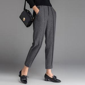 European Style Fashion Ffice Lady Slim Tweed Pants pictures & photos