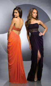 2015 Latest New Style Chiffon Sexy Slide Evening Dress (ED13002) pictures & photos
