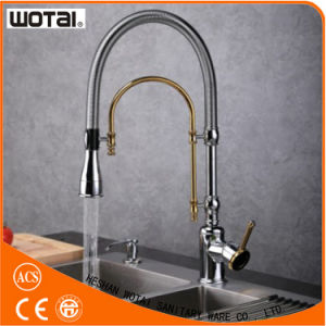 Chrome Gold Finished Kitchen Faucet Sanitary Ware pictures & photos