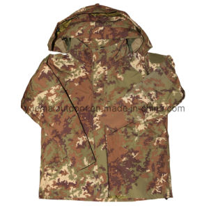Military Ecwcs Waerproof Jacket in Italy Camo pictures & photos