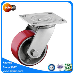 "Swivel Caster 4"" Heavy Duty PU Wheel with Roller Bearing pictures & photos"