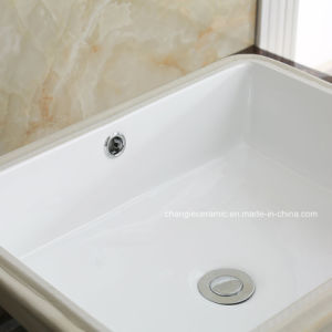 Ceramic Rectangle Undermount Vitreous Sink (1637) pictures & photos