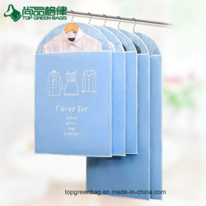 Wholesale PVC Non Woven Bag Zippered Clear Garment Bag pictures & photos