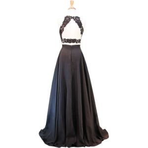 Stock Custom Prom Party Gown Black Red Chiffon Lace Bridesmaid Evening Dress E201815 pictures & photos