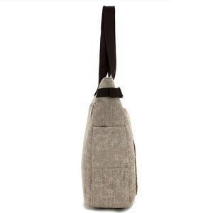 Promotional Women′s Handbag Shopping Shoulder Carrier Tote Canvas Bag pictures & photos