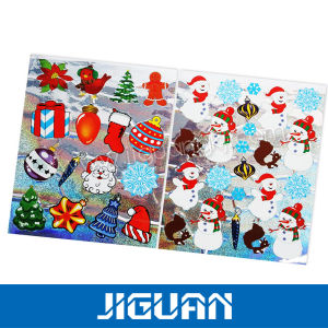 Custom Christmas Promotional Color Decorative Glitter Sticker pictures & photos