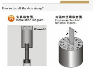 2018 Dme DIN Steel Mold Recycling Insert Date Stamp Cym 8*10 pictures & photos