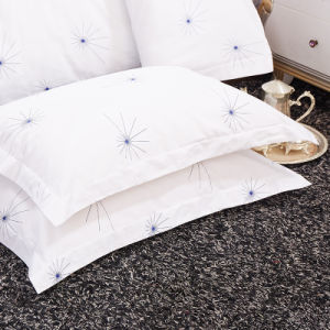 Environmental Sateen Bed Sheet Set for University pictures & photos