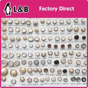 White Shank Hook ABS Pearl Button pictures & photos