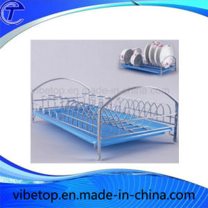 Metal Single and Double Tier Kitchen Dishes Drying Rack pictures & photos