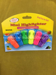 4 Colors Mini Highlighter Pen, Fluorescent Pen with Card Packing pictures & photos