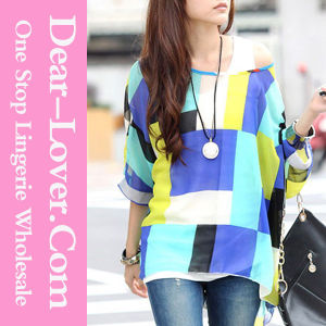 Fashion Women Casual Long Sleeve Chiffon Blouse Shirt pictures & photos