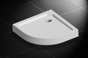 Floor Mounting Round Shape SMC Shower Tray pictures & photos
