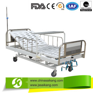 Professional Factory Stainless Steel Double Manual Bed pictures & photos