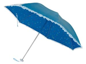 Lace Edge Inside Printing 3-Folding Umbrella (BD-26) pictures & photos