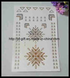 2015 Hot New Style Water Transfer Body Customized Metallic Temporary Tattoo Sticker pictures & photos