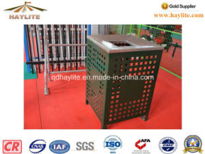 Outdoor Powder Coated Metal Trash Bin pictures & photos