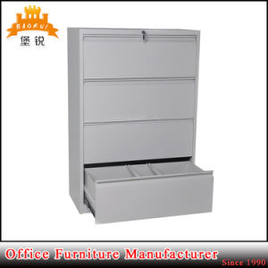 Knock Down 4 Drawers Horizontal Metal Lockable Office Cupboard Furniture Steel File Cabinet pictures & photos