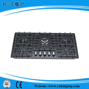 5burner Glass Panel Burner Gas