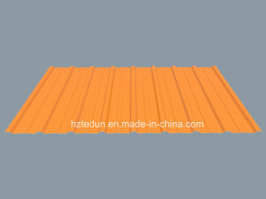 Metal Trapezoid Sheet for Facades and Wall Claddings (grass green6010) pictures & photos