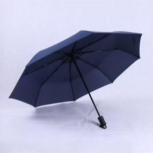 Fashion Women Business Fully Rain Umbrellas UV Parasol Men Automatic Three-Folding Windproof Sun Umbrella pictures & photos