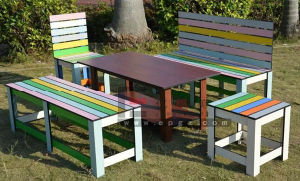 High Quality Trespa Bench Seating in Waterproof pictures & photos
