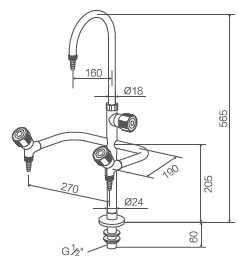 Lab Accessories, Three Way Swing Lab Faucet (WJH1331A-1) pictures & photos