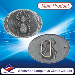 Custom Spider Metal Oval Antique Silver Plating Personalized Belt Buckle (LZY201300006) pictures & photos