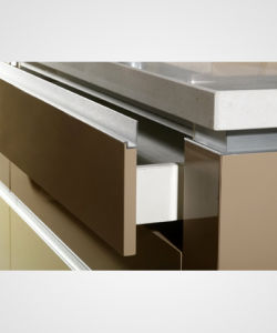 High Glossy Acrylic MDF Kitchen Cabinet (zv-007) pictures & photos