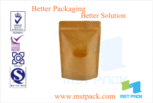 Paper Stand up Pouch with Window, Dry Food Packaging pictures & photos