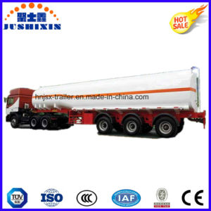 3 Axis 45000 Liters Carbon Steel Fuel Tanker Truck Semi Trailer with 5 Compartments pictures & photos
