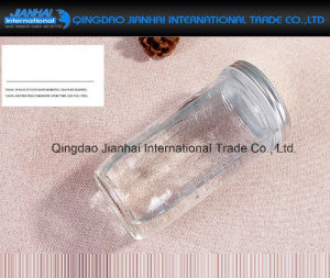 600ml Water Bottle Glass Fruit Drinking Jar with Straw, Metal Lid pictures & photos