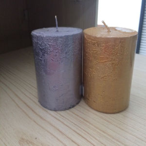 Wholesale Cheap Gold/Rust Pillar Candles pictures & photos
