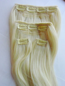 Clip in Hair Weft / Synthetic Hair pictures & photos