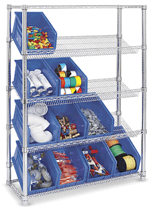Slanted Storage Adjustable Wire Shelving pictures & photos
