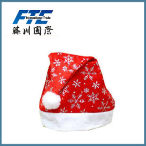 Hot Sell High Quality Red Plush Christmas Santa Hat with pictures & photos