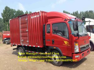 Sinotruk HOWO 4X2 5 Ton Light Cargo Box Truck/ Van Truck, LHD/Rhd pictures & photos