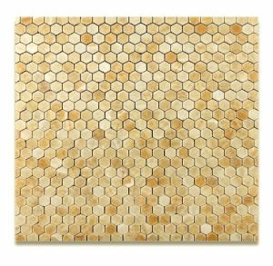 Honey Onyx Hexagonal 1 Inch Mosaic Tile pictures & photos