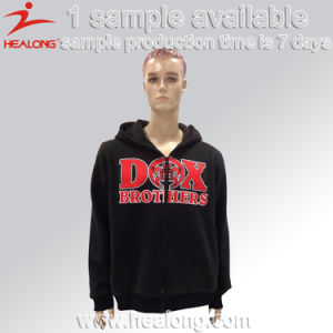 Healong Custom Design Silk Screen Zipper Fleece Hoodie pictures & photos
