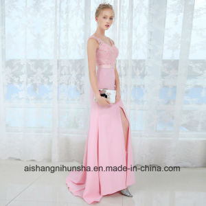 V Neck Long Bridesmaid Dresses Sexy Sleeveless Wedding Party Gown pictures & photos