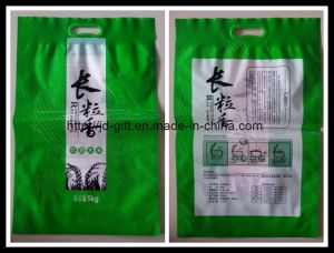Custom Printed 5kg Plastic Rice Handle Packaging Bag pictures & photos