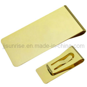 Stainless Steel Money Clip (JJ-SS-MC01-01(gold))