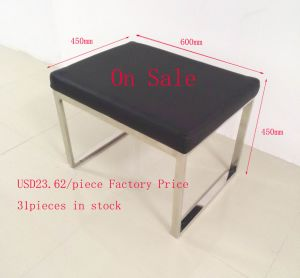Ottoman Stool Bench with Stainles Steel Frame Base on Sale pictures & photos