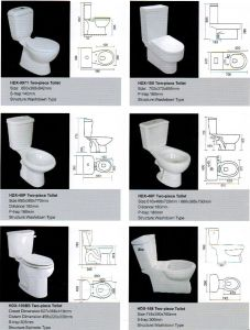 Ceramic Toilet, Ceramic Two-Piece Toilet