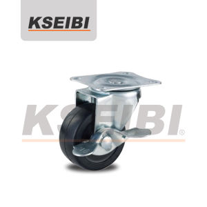 Kseibi Light Duty Swivel Plate Rubber Caster with Brakes pictures & photos